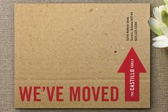 Simple and modern, these moving announcements emulate moving boxes all ready for the big move. Inspired by the craft texture of a cardboard box, the animated background in this design creatively pokes fun at the packing experience. Moving Boxes, Moving Card, Packing To Move, Typography Love, Moving Announcements, Moving Tips, Paper Goods, Making Ideas, Stencil