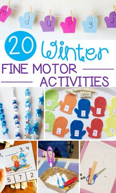 20 Wonderful Winter Fine Motor Activities for Early Learning