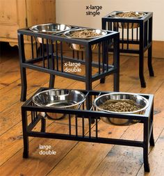 Just found this Raised Mission Style Dog Feeders - Dog Bowls - Wrought%26%23150%3bIron Mission-Style Feeder -- Orvis UK on Orvis.com!