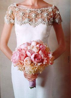 """critter-keeper12: """"Glam shoulders and neckline on this heavenly wedding gown by Marchesa gives you plenty of WoW without being over the top ! Perfection! critterkeeper-12"""""""