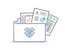 Carpeta de Dropbox con archivos