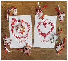 Martisor, 1 Martie, Handmade Card with Printed Envelope, Spring Charm, Handmade Martisor, Artistic Puzzle, Art Puzzle Beginning Of Spring, Puzzle Art, Fruit Trees, Envelope, Red And White, Gift Wrapping, Christmas Ornaments, Printed, Holiday Decor