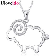 Find More Pendants Information about 15% Off Long 925 Sterling Silver Pendant Necklace Sheep Pendants Women Fashion Necklaces for Women Accessories Uloveido JS501,High Quality necklace bead,China necklace satin Suppliers, Cheap necklace chunky from Uloveido Official Store on Aliexpress.com