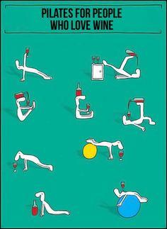 Pilates for #wine lovers.  wine / vino mxm