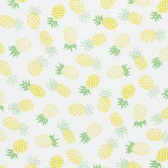 Tissu viscose ananas jaunes - Satin, doublures et viscose - MODE Mondial Tissus