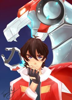 Red Paladin- Keith and his Red Lion from Voltron Legendary Defender