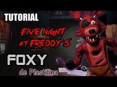 Tutorial Foxy (Five Nights at Freddy's) de Plastilina / Clay / Porcelana fria / Cold Porcelain - YouTube