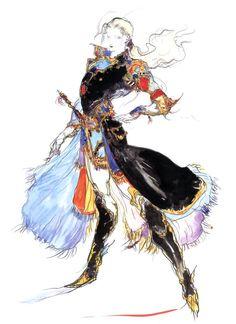 Final Fantasy V - Faris Concept Art - Yoshitaka Amano