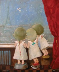 little angels by Yevgenia Gapchinska | whimsical art