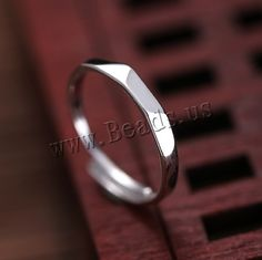 925 Sterling Silver Finger Ring, Donut, 3mm, US Ring Size:5,china wholesale jewelry beads