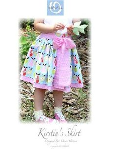 Kristin's skirt pattern for girls by Olabelhe.  Available at www.chadwickheirlooms.com