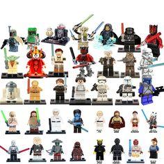 1pc Star Wars Knight Obi-wan Boba Fett Clones Chewbacca Palpatine Building Blocks Model Figures Compatible Andiran Starwars