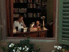 "Diane Lane's character Frances at her desk in ""Under the Tuscan Sun"""