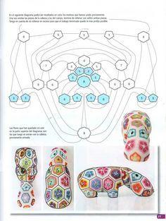Knitting patterns free toys african flowers ideas for 2019 Crochet Hippo, Crochet Amigurumi Free Patterns, Crochet Blanket Patterns, Crochet Motif, Crochet Dolls, Crochet Flowers, Crochet Baby, Knitting Patterns, Crochet Poncho