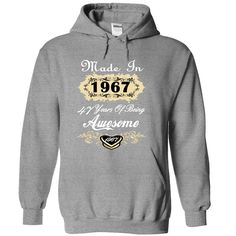 Awesome Born In 1967 Limited Edition Women Tee