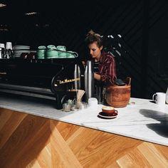 Espresso bar at @commonroomcoffee in Newport Beach - image @marshallwyattott  #acmecups #specialtycoffee #california #acmeforlife