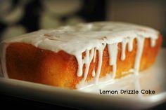 Nigella Lawson's perfect every time Lemon Drizzle Cake – Mr and Mrs T Plus Three Lemon Desserts, Lemon Recipes, Baking Recipes, Sweet Recipes, Delicious Desserts, Lemon Cakes, Simple Recipes, Bread Recipes, Yummy Food