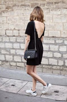 LBD + sneakers = end of summer party uniform