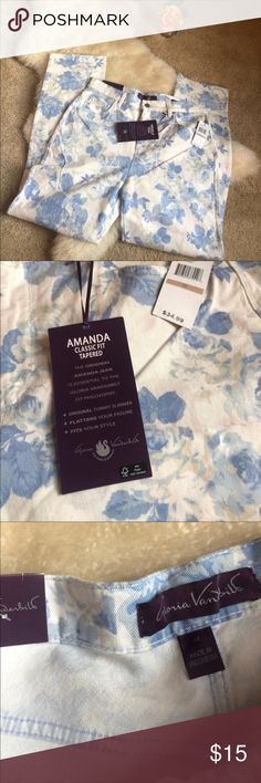 """NWT Gloria Vanderbilt Amanda Jeans - Size 12 These are NWT Gloria Vanderbilt Amanda Classic Fit, Tapered Stretch Floral Jeans in color Fresh Air. Beautiful floral print. Even prettier in person. Size 12. Inseam is 30"""", rise is 12"""". Perfect condition -- NWT. Reposhing because I purchased them and they do not fit my in between body size. :( My loss is your gain. Gloria Vanderbilt Jeans"""