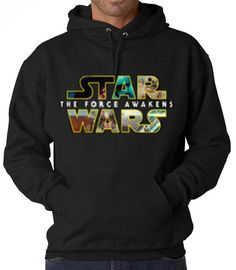 Star Wars- The Force Awakens Collage Hooded Sweatshirt