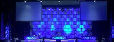 Ashley Dingle from Willow Creek Community Church, DuPage in West Chicago, IL brings us this wafer wall with shatter boxes as risers. They created this year's Easter look by renting a wafer wall from Atomic Design. The wafer wall was very easy to install. They had a team of 3 people complete it in about 1 hour. The wall takes color very well, and can be projected on as well as lit. They lit the wall with just a few batten 72s. They also created 'shatter box' panels for underneath t...