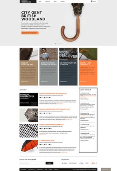 London Undercover / Digital Concept on Web Design Served