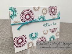 Paisleys and Poseys Thank You Card            Thank you to everybody that commented on this lovely box I sent out to my September customers ...
