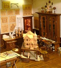 Tom Robertson miniature #Dollhouse workroom, can you believe this is miniature?