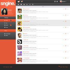Sngine Network UI on Web Design Served