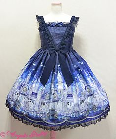 Angelic Pretty: Castle Mirage in navy