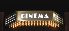 Custom Made Vintage Antique Style Art Deco Movie Theatre