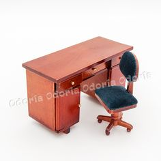 Cheap Dollhouse Furniture, Buy Quality Miniature Directly From China  Miniature Wood Suppliers: Odoria Miniature Wooden Office Desk And Swivel  Chair ...