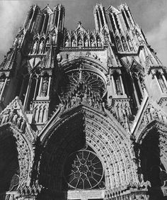 Rheims Cathedral, I LOVE gothic architecture
