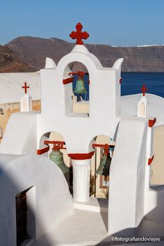 Oia, Santorini, Islas cicladas en Grecia No todas las iglesias son azules