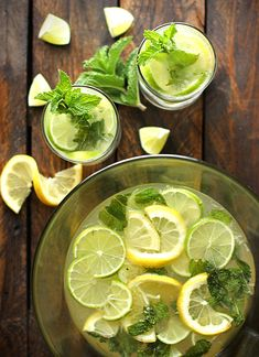 Karen's Zesty Lemon Lime Mojitos   - Bright and refreshing with an extra special ingredient.