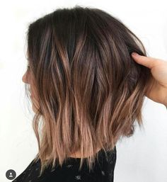 20 light brown bob hairstyles - Brown balayage short hair The Effective Pictures We Offer You About Beauty pictures A quality pict - Long Bob Hairstyles, Trendy Hairstyles, Bob Haircuts, Oval Face Hairstyles, Woman Hairstyles, Brunette Hairstyles, Easy Hairstyle, Layered Haircuts, Haircut And Color