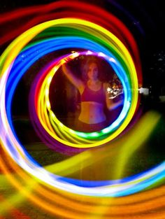 Hooping Community – a space for hoopers Taste The Rainbow, Over The Rainbow, Flow Arts, Rainbow Connection, Light Trails, Neon, Son Luna, World Of Color, Light Painting
