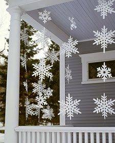 copos de nieve de papel/paper snowflakes