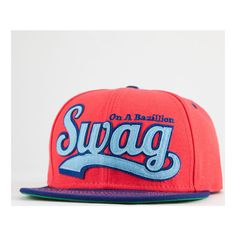 Official Swag Snapback Hat (£14) ❤ liked on Polyvore featuring accessories, hats, snapback, adjustable hats, adjustable snapback, snap back hats and adjustable snapback hats