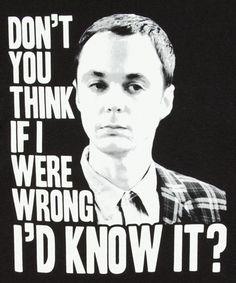 Come non essere d'accordo con Sheldon....#The BigBangTheory