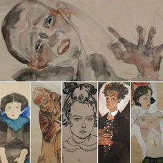 Some impressions from the exhibition. Sketch Drawing, Modernism, Expressionism, Vienna, Art Museum, Austria, Watercolour, Graphic Art, Art Gallery
