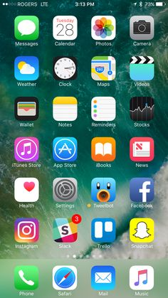 Plus, of course, social network apps. Iphone 6 Home Screen, Snapchat Phone, Whats On My Iphone, Iphone App Layout, Phone Messages, Phone Organization, Apple Iphone, Iphone 7, Homescreen