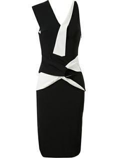 Roland Mouret Origami Folded Stretch-Crepe Dress