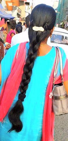 Indian Hairstyles, Braided Hairstyles, Indian Braids, Indian Long Hair Braid, Thick Braid, Big Bun, Oily Hair, Beautiful Braids, Braids For Long Hair