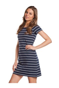 Vestido de manga corta. #navystyle - MUJER | Rosalita McGee