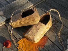 Купить Лапти чешки детские танцевальная обувь для русского народного костюма - бежевый, однотонный
