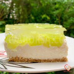 Joghurtos sárgadinnyetorta – sütés nélkül – SAV-a-borsa Vanilla Cake, Food, Mint, Yogurt, Essen, Meals, Yemek, Eten