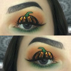 """13 mentions J'aime, 3 commentaires - chloé  (@makeupchloo) sur Instagram: """"glam Halloween makeup • got inspired by @lindaa.3 for the pumpkin  • #hallowin #halloweenmakeup…"""""""