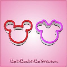 View Comfort Grip Mickey and Minnie Mouse Cookie Cutter Set in detail