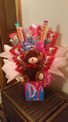 Dulces ramo Sweetart oso cumpleaños Candy Bouquet por AnitaEvelyn
